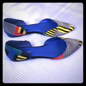 Funky Nine West colorful flats